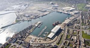 Aerial photo of Hartlepool docks