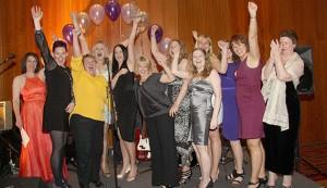 Adele White & Harriet Green celebrate winning  thier Women in Logistics award