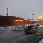 Yeoman Bridge delivering 90,000 tons of aggregate for London Gateway's Gate Complex - February 2013