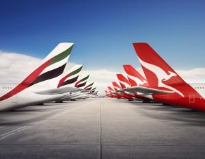 Emirates and Qantas