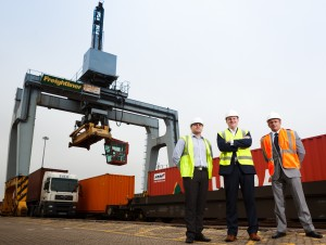 Left to right FSEW's Gethin Worgan and Geoff Tomlinson with Mark Leveridge from Logico 2