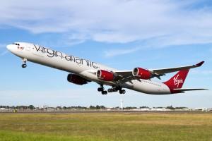 Virgin Atlantic A340-600 aircraft in flight