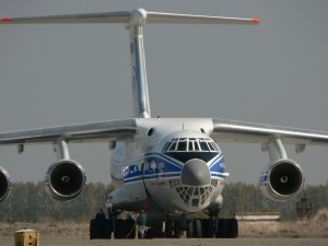 One of Volga-Dnepr's new IL-76TD-90VD freighters