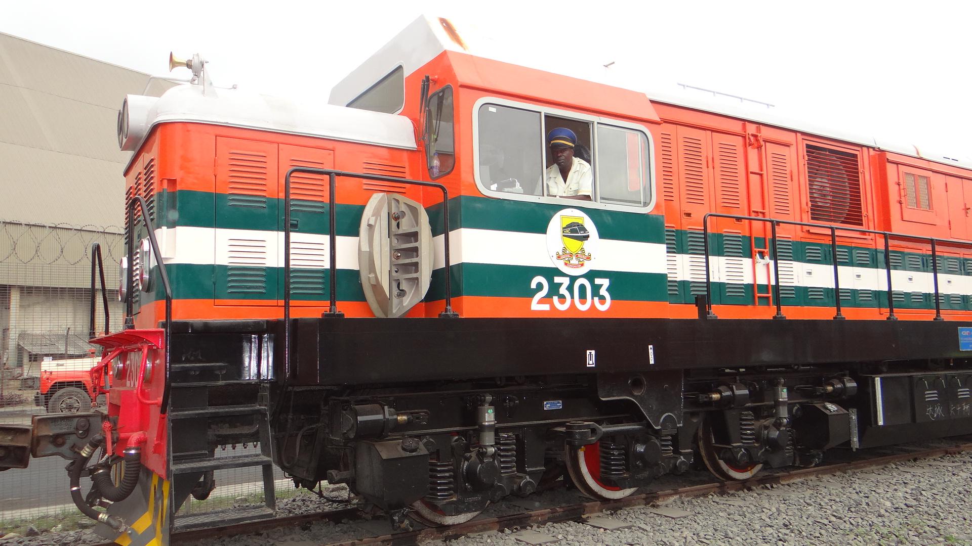 APM Terminals Apapa - locomotive on terminal