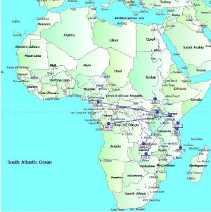 Africa map resized