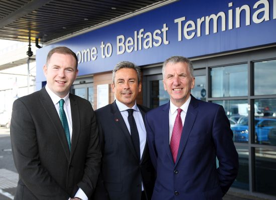 Hazzard and Ó Muilleoir tour Stena Line port operations: