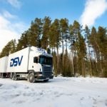Road transport, winter, white, truck, trucks, trailer, delivery, professional, no people