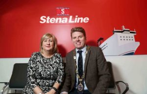 Leading ferry company Stena Line will once more be the principal sponsor of this year's Northern Ireland Logistics and Transport Annual Gala Dinner, hosted by the Chartered Institute of Logistics and Transport (CILT).   The event will take place at Titanic Belfast on Thursday 23rd February and is widely regarded as the premier dinner for the transport and logistics profession in Northern Ireland.  Over 300 representatives from all sectors of the industry will be in attendance.  This year's guest speaker will be NI football team manager Michael O'Neil and the event will be compared by TV personality Zoe Salmon.  Pictured ahead of the dinner are Anna Breen, Stena Line's Freight Commercial Manager (Irish Sea North) and Nick McCullough, Chairman, CILT.
